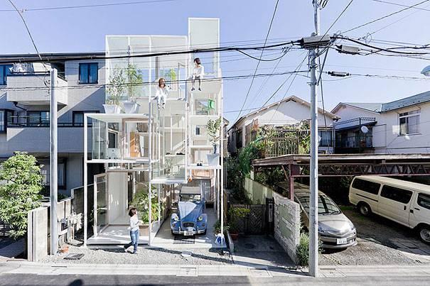1. บ้านโปร่งใส ประเทศญี่ปุ่น