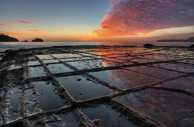 2. Tessellated Pavement บนเกาะแทสเมเนีย (รัฐหนึ่งในประเทศออสเตรเลีย)