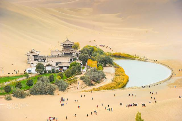 21. Crescent Moon Lake At Dunhuang