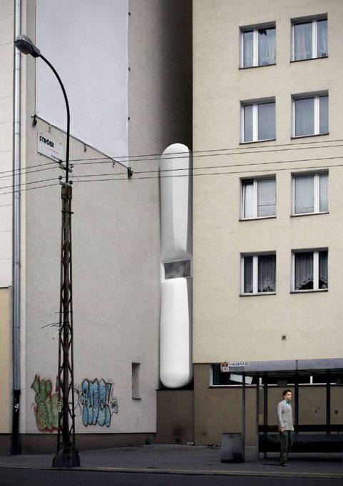 3. บ้านที่ทรงผอมที่สุดในโลก ประเทศโปแลนด์