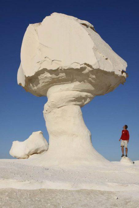 3. หินรูปทรงประหลาด ในทะเลทรายขาว 2