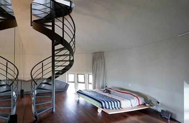 4. บ้านหลังใหม่ ดัดแปลงมาจากแท็งก์น้ำเก่า ประเทศเบลเยี่ยม 3