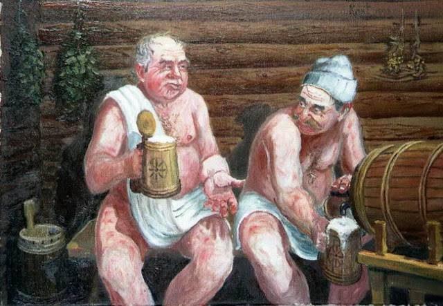 Колхозница в бане 149