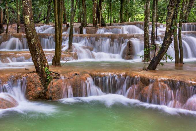11. Tad Sae Waterfall, Laos