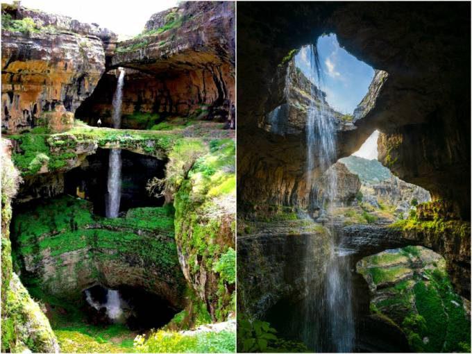 26. Baatara Gorge Waterfall, Lebanon