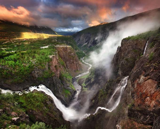 34. Voringfossen Waterfall, Norway