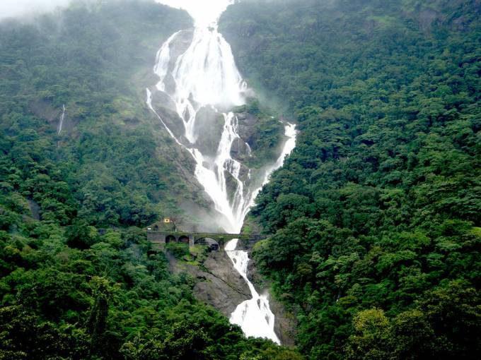 44. Dudhsagar Falls, India
