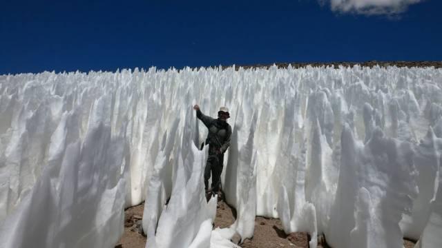 6. ปรากฏการณ์ ทุ่งน้ำแข็ง นักบวชขาว ( Penitentes )3