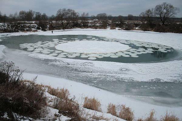 7. ปรากฏการณ์ ไอส์เซอร์เคิ้ล ( Ice Circle )