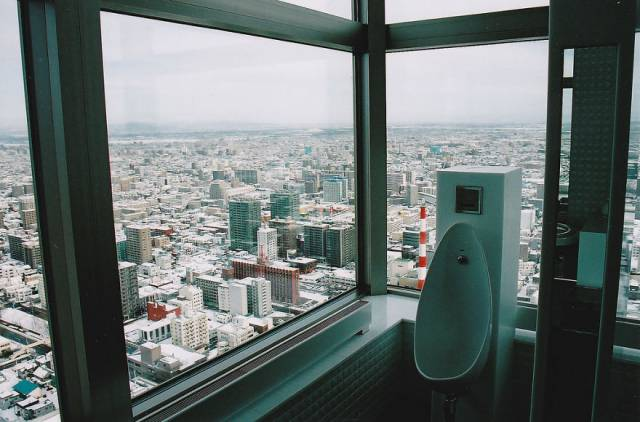 14. Toilet With A View In Sapporo Jr Tower, Japan