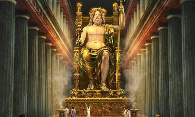 7.อนุสาวรีย์เทพเจ้าซีอุส (จูปีเตอร์)แห่งโอลิมเปีย1
