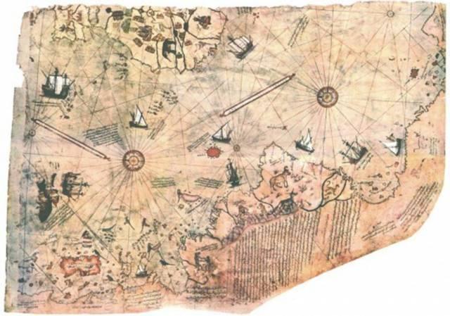 8. แผนที่ปริศนา Piri Reis