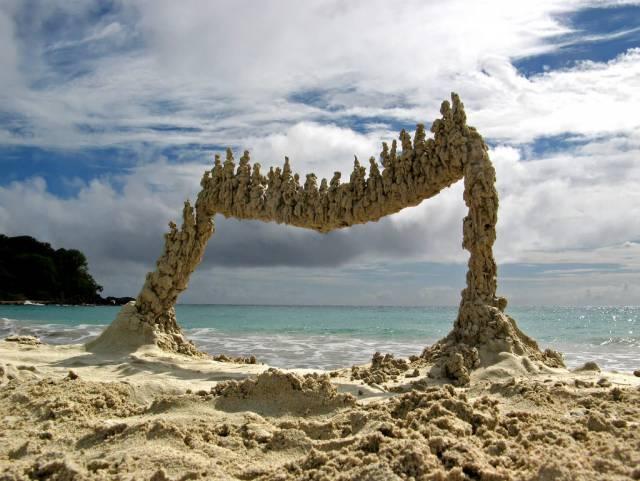 1. ประติมากรรมทราย ที่เปอร์โตริโก