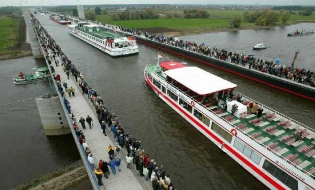 10. Magdeburg Water Bridge ประเทศเยอรมนี