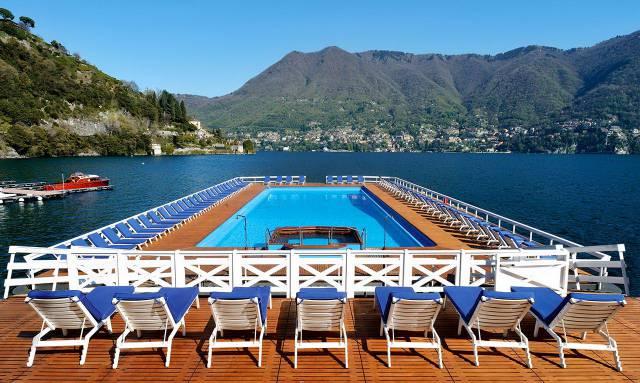 15. Villa d'Este's floating pool in Lake Como1