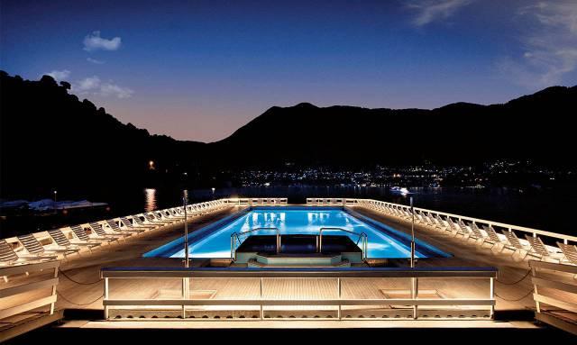 15. Villa d'Este's floating pool in Lake Como2