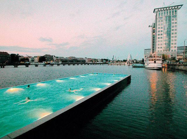 2. Berlin's Arena Badeschiff pool 1