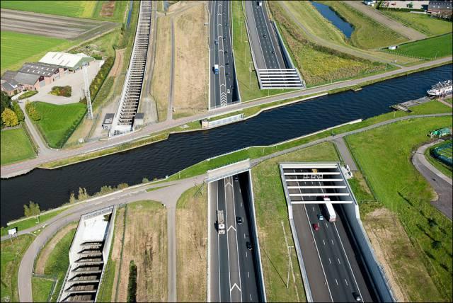 7. Aqueduct Ringvaart Haarlemmermeer ประเทศเนเธอร์แลนด์